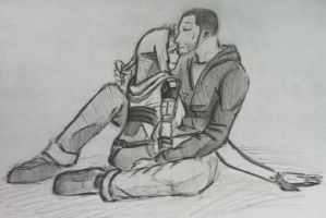 Tali x Shepard (18) by spaceMAXmarine