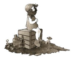 Girl on a Crate by intrond