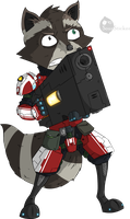 Rocket Raccoon by SourSticker