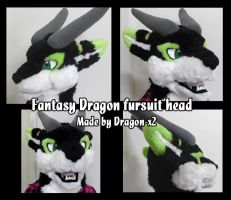 Fantasy dragon fursuit head by dragon-x2