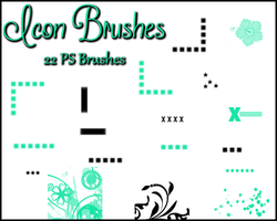PS Icon Brushes by Illyera