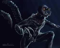 Resident Evil Verdugo creature by Furgur
