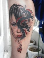 DRAGON GIRL TATTOO real by andreas-m3