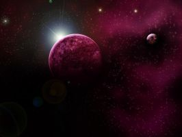 Premade Background: Space by achatinastock