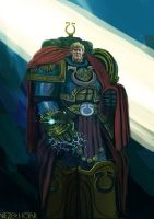 Roboute Guilliman,the Primarch of the Ultramarines by Nezermoar