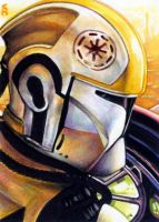 Clone Trooper Sketch Card by veripwolf