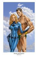 Susan and Namor by MitchFoust