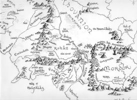 Map of the middle earth by Shiva-Anarion
