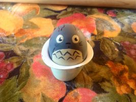 Totoro egg by let-theflames-begin