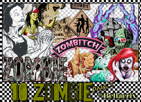 Zombie PNG's by Bellacrix