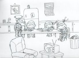 It's TMNT Pizza Time by johnnyism
