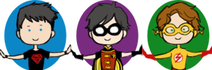 young justice icons by superhoneybear