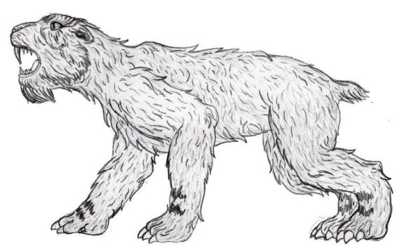 saber-toothed feline on creature-cove