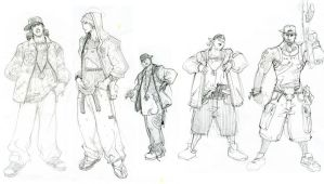 APB Sketches by arnistotle