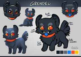 Grendel Ref Sheet by TsaoShin