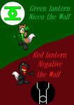 Green/Red Lantern Nicco/Negative the Wolf by NiccoRae77