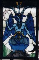 Baphomet - Stained Glass by alkhemy