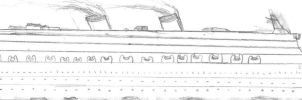 Ancient Cruise Liner Drawing by Seanguy4