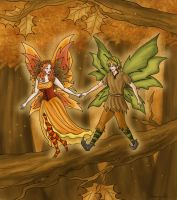 Autumn Faeries by Captain-Savvy