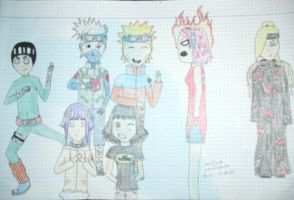 My favourite naruto characters by marinuk-pencilpower
