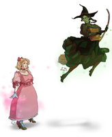 Wicked: Glinda and Elphie by KleeB