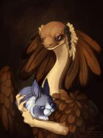 Lady and a bun by morjia