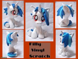 Filly Vinyl Scratch Sculpt by CadmiumCrab
