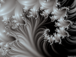 White On Black Spiral by fraxialmadness3