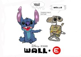 WALLE and Stich by jedimangageek