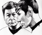 Untitled 1 - Spock and McCoy by WallyHindle