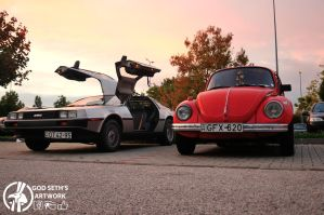 DMC-12 and my Beetle by Seth890603