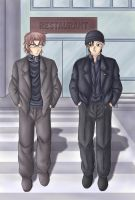 Okiya and Akai - Color Version by CelestialRayna