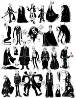 Gaster Designs (UNDERTALE SPOILERS?) by WHATiFGirl