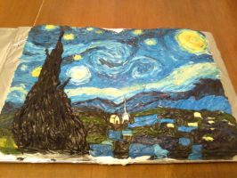 Van Gogh's Starry Night by Band-Geek24