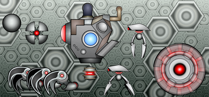 Robot Sprites by Of-the-Northwind