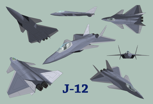 J-12 Chinese Stealth Fighter by diasmon