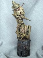Gepetto's Nightmare Painted by Blairsculpture