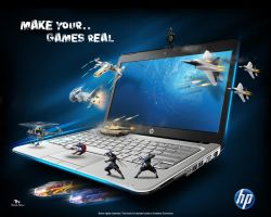 hp make your games real by 5835178