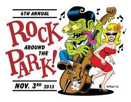 Rock Around The Park 2013 (Apologies to Ed Roth) by Huwman