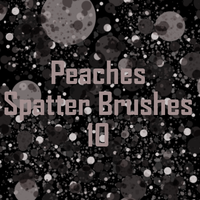 Peaches Spatter Brushes by JU5TPeachy
