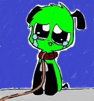 sad gir (COLORED!) by 1-zombie-kitty-1
