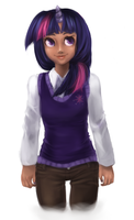 Human Twilight Sparkle by moon-beams