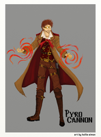Pyro Cannon Commission by Little-Voices