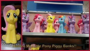 Hasbro MLP Piggy Banks from Walmart! by Vesperwolfy87