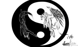 Wolves of Yin and Yang by Okami-Moonspiritwolf