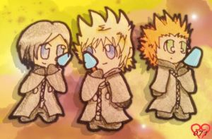 358 2 Days Trio Chibis by lollypop071