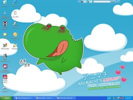 My Current Desktop - Pocchi by yesse-the-hedgehog