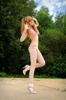 Gyaru swimsuit by palecardinal