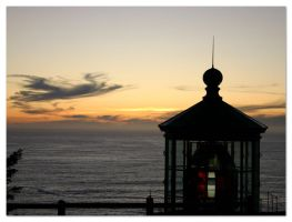 Lighthouse at Cape Meares by Aprilvirgo