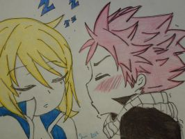 Natsu and Lucy by Rainbow-babee